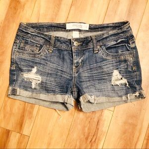 Charlotte Russe | Distressed Jean Shorts